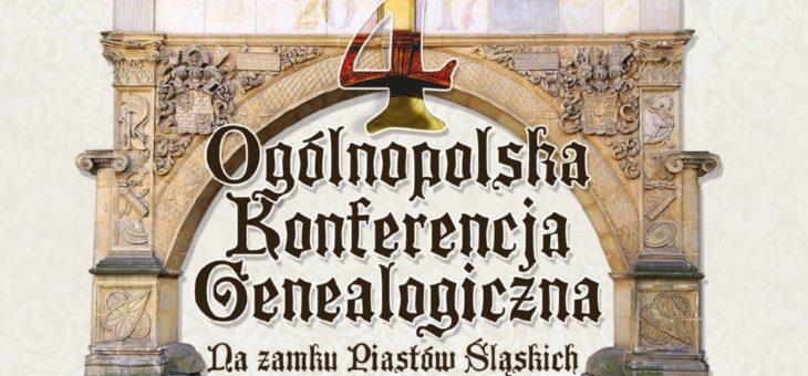 4. Ogólnopolska Konferencja Genealogiczna Brzeg 2017