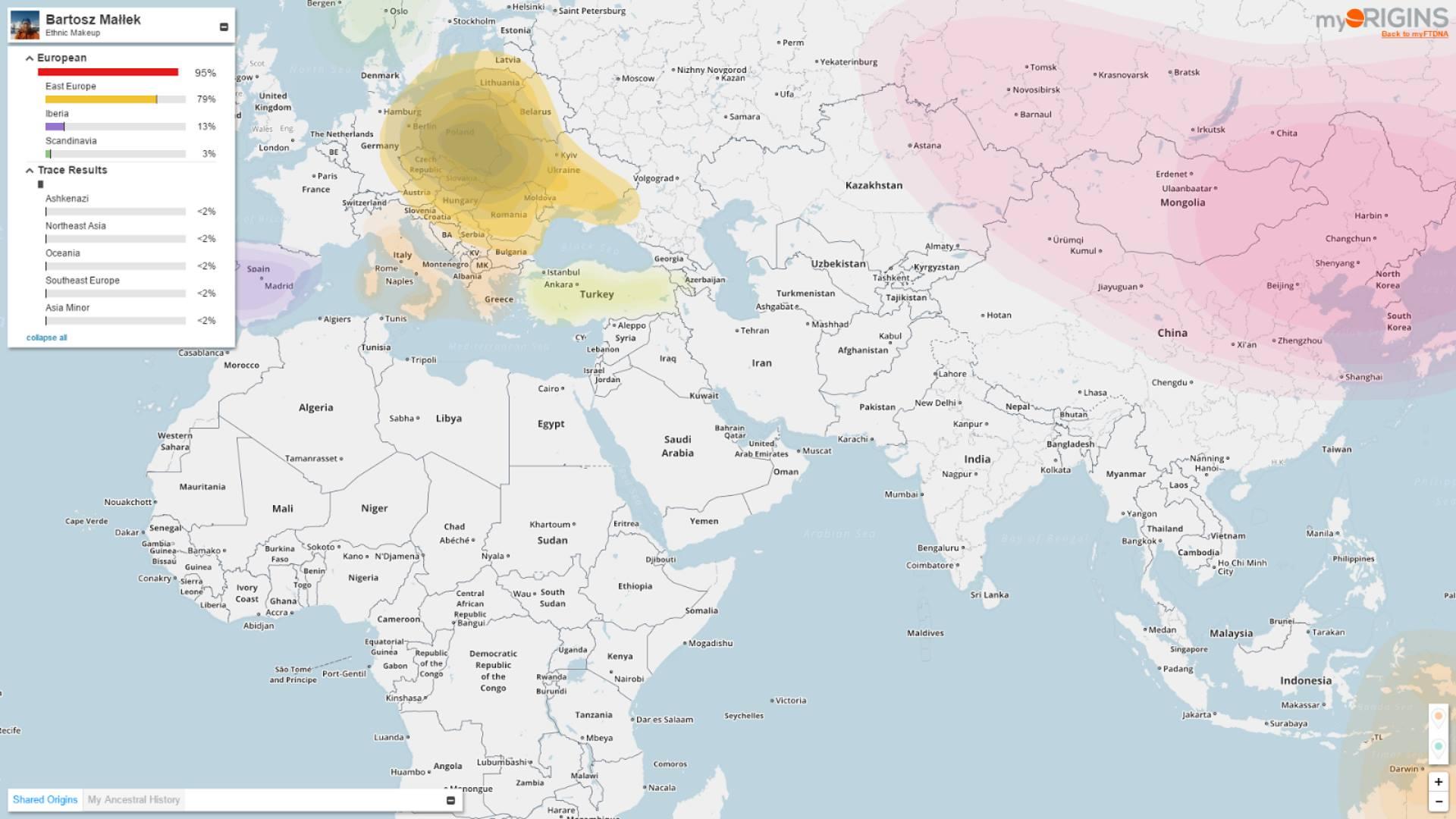 Pochodzenie etniczne napodstawie DNA