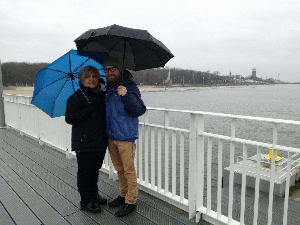 Z mamą wKołobrzegu