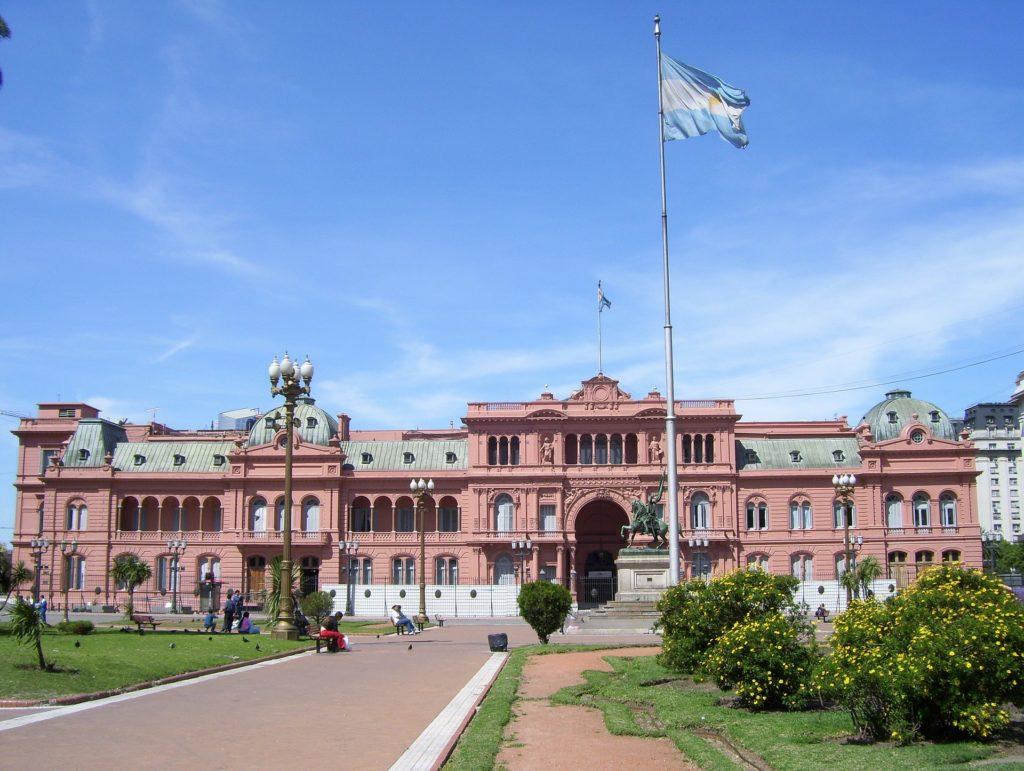 Różowy dom - pałac prezydencki wBuenos Aires. Fot.Pixabay.
