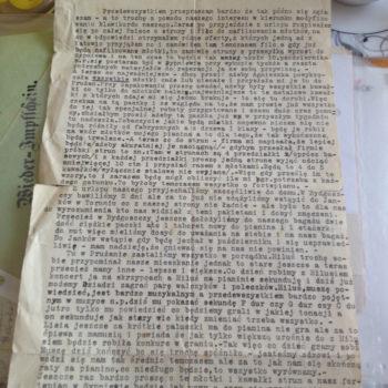 Historia jednego listu - Józef Małłek
