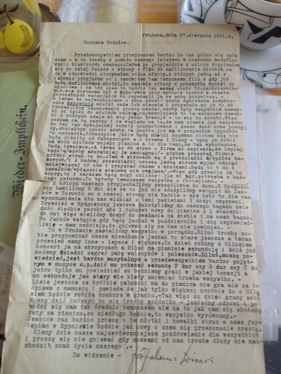 Historia jednego listu – Józef Małłek