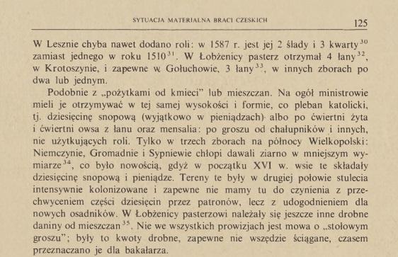 """""""Sytuacja materialna duchowieństwa braci czeskich wPolsce dopoczątków XVII w."""" opublikowanym wOdrodzeniu ireformacji wPolsce XXIX 1984."""