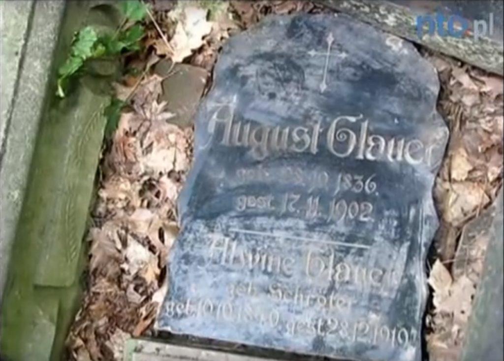 Nagrobek rodziców Maxa Glauera odnaleziony. Źródło: https://www.youtube.com/watch?v=_rO_h95GiFg
