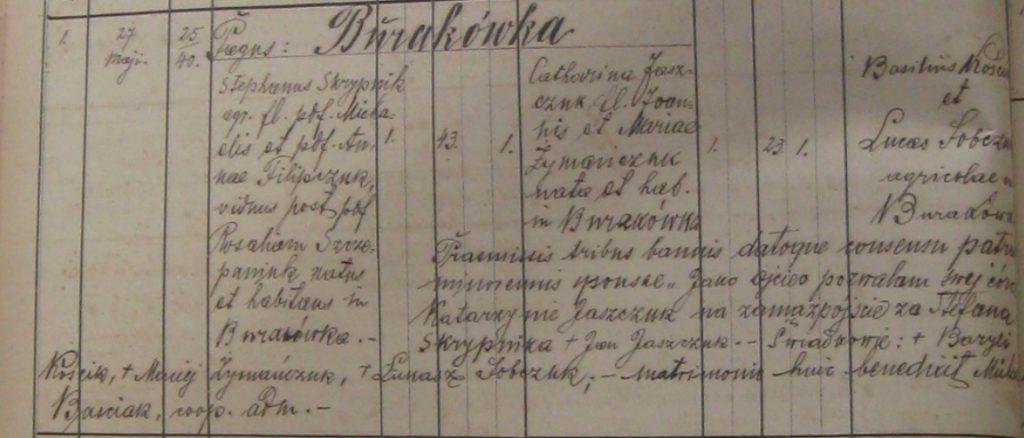 Ślub Stefana Skrzypnika zKatarzyną Jaszczuk