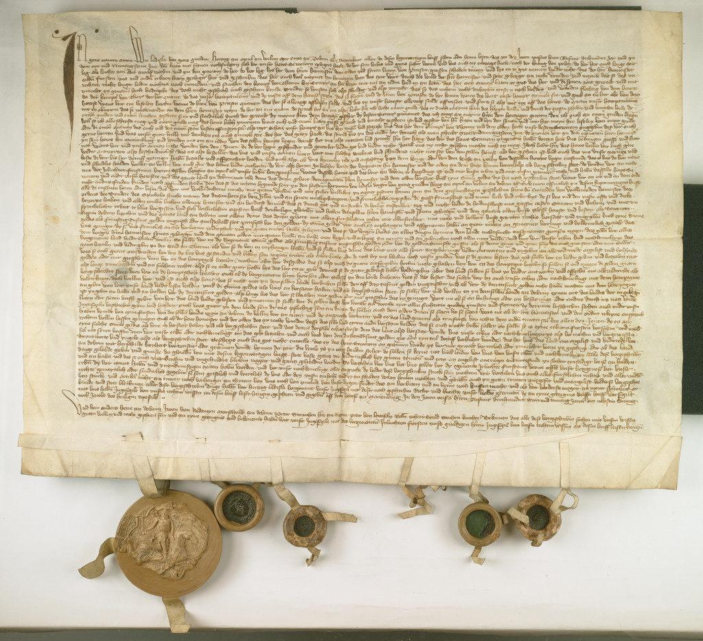 Władysław Opolczyk zastawia ziemię dobrzyńską zakonowi krzyżackiemu, 1392, Archiwum Główne Akt Dawnych
