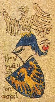 Herb Władysława Opolczyka według Herbarza Geldrii. Źródło: Wikipedia
