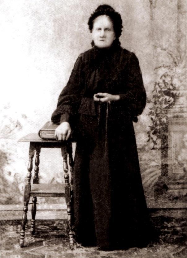 Rekonstrukcja zdjęcia Wiktorii Osińskiej zd. Gummer zkońca XIX wieku