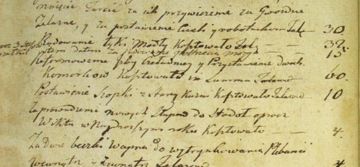 Konnotacyja wydatków łożonych nameliorację plebanii etc. odroku 1805